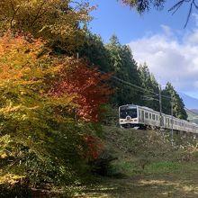 JR日光駅を出発して宇都宮駅を目指すいろは号