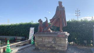 熱海のお宮の松/貫一お宮の像