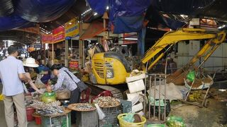 海辺の市場。