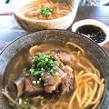 並んでも食べたいソーキソバ たけのこ 竹富島