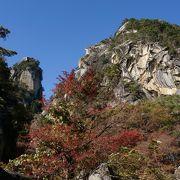 風光明媚な渓谷 昇仙峡