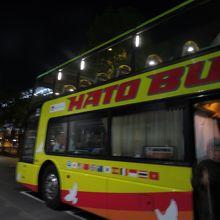 オープンバスです、上から眺めが最高です
