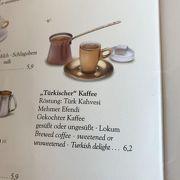 カフェ巡りでウィーンコーヒーに飽きたので、トルココーヒーを頼んでみました。