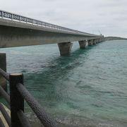 海原に架かる長大な池間大橋