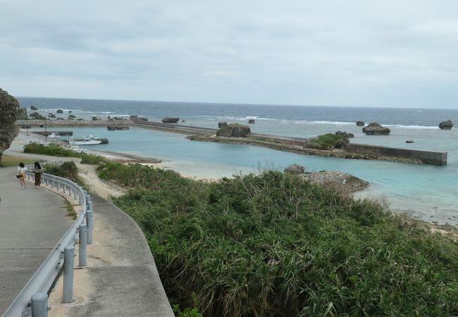 保良漁港の浜