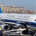 初めての中国南方航空の飛行機で中国へ