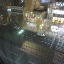部屋から市電の眺望