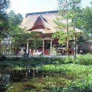 出羽三山神社・三神合祭殿の神聖な御手洗池