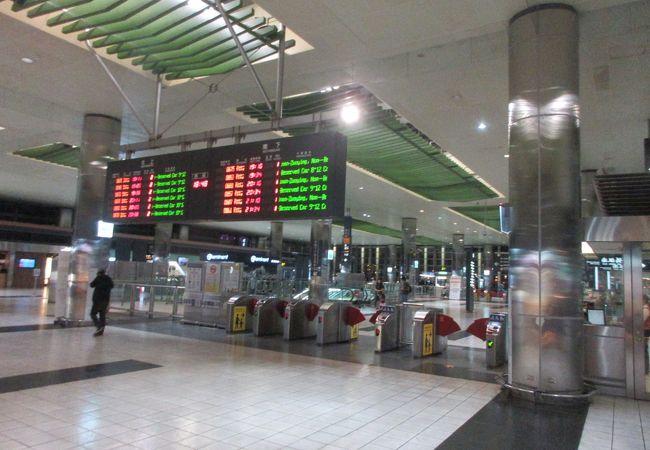桃園空港に近い高鐵の駅