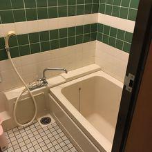 狭いですね。シャワーのみの利用でしょうか・・