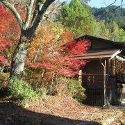 秋景色の宿場町