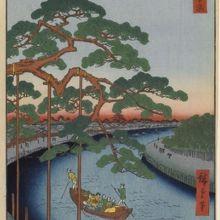 江戸時代の錦絵ですが、小名木川も屈曲していたかもしれません。