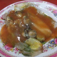 蚵仔煎:牡蠣のオムレツ:美味い