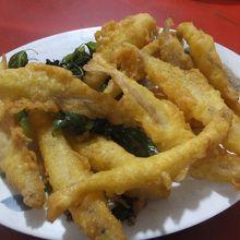 小魚の天婦羅:美味い