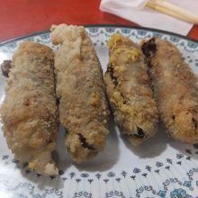 牡蠣の揚げ物料理