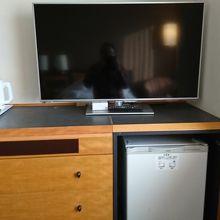 大型TV、冷蔵庫、Wifi あり。