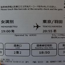 今回の航空チケット!