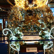 新幹線開業5周年のクリスマスツリー