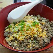 沖縄そばの麺のまぜそば