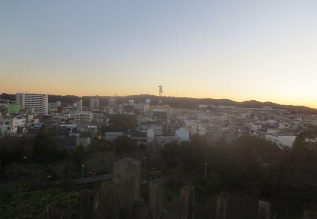 掛川市街地が一望できる