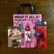 クリスマスプレゼント用の袋サービスがありました。