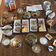 2日目の朝食は洋食で。