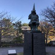 熊本城の前に