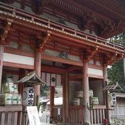 比叡山麓の歴史ある神社