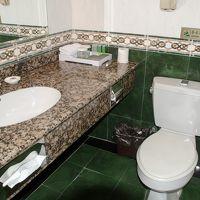 洛陽牡丹大酒店トイレと洗面台