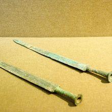 天子駕六博物館第一展示室銅剣