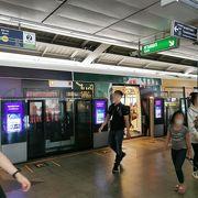 BTS乗り換え駅で周辺は賑わっています