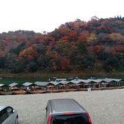 嵐山の着船場周辺の紅葉も圧巻