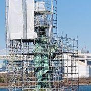 自由の女神像 ただいま…修繕工事中