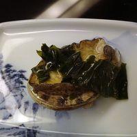 夕食【鮑の焼き物】