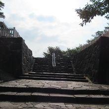 甲府城 中の門跡
