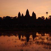 カンボジアらしい光景。