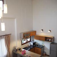 2階ベッドルームからキッチンの眺め