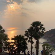 夕陽で有名な岬