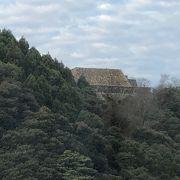 宿泊したホテルから見た米子城跡