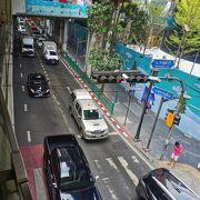 交通量の多い主要道路