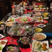 めちゃくちゃ豪華でした、ワインも日本酒も