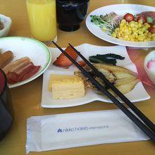 朝ご飯です