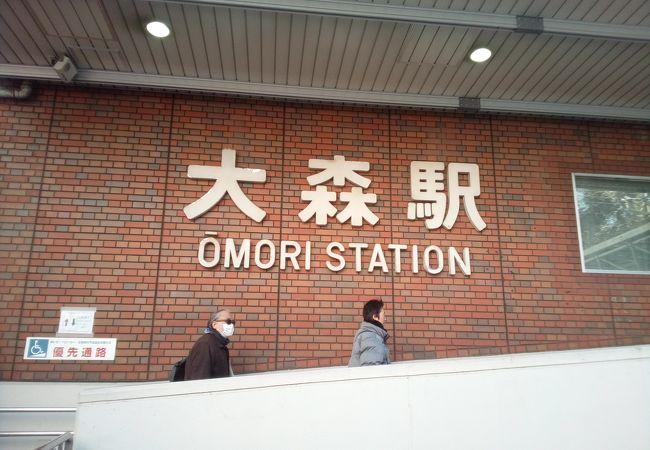 モースで有名な貝塚の碑が近くにある駅