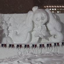 完成間近の「雪ミク」