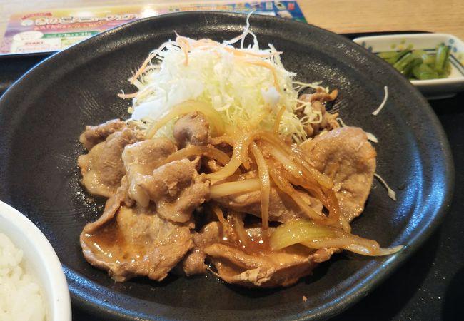 豚の生姜焼きが美味しい!