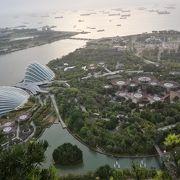空中庭園から眺めるガーデンバイザベイ,シンガポール海峡