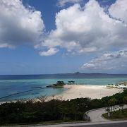 海洋博公園内のとても綺麗なビーチ