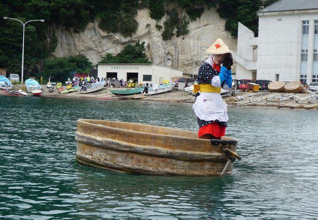 やっぱりたらい舟に乗らないとね