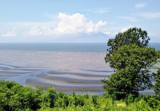 御輿来海岸干潟景勝の地