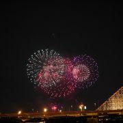開業55周年記念の花火大会